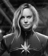 Brie Larson as female superhero Captain Marvel.