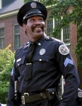 Comedy capers: Bubba Smith in Police Academy.