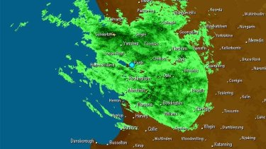 The remnants of Cyclone Joyce is pushing wet weather over Perth.