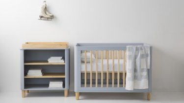 Incy Interiors change table and cot.