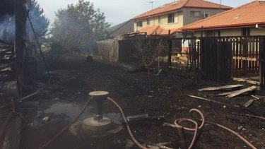 The fire also damaged the back fences of surrounding houses.