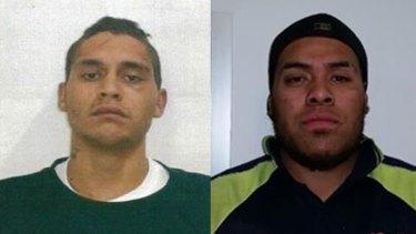 Wanted: Alex Egan (left) and Antonio Toliseli.