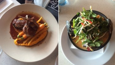 The rack of lamb and laksa at the Secret Harbour venue that scored highly with Karl Langdon.