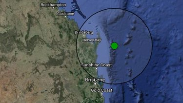 The earthquake hit east of the Sunshine Coast, but its effects were felt hundreds of kilometres away.