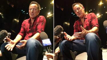 Bruce Springsteen fielded questions from reporters in Perth in the lead up to his first concert.