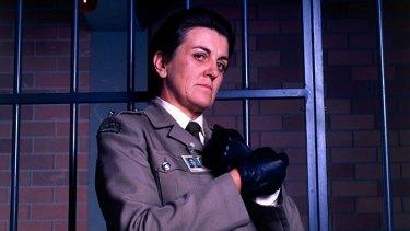 Maggie Kirkpatrick as Joan Ferguson, aka 'The Freak', in <i>Prisoner</i>.