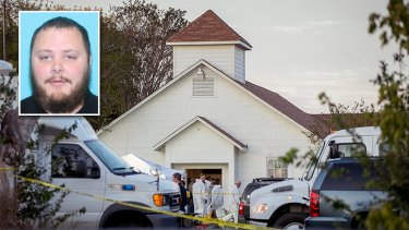 Devin Kelley (inset) opened fire on the Sunday church congregation before a neighbour confronted him with a rifle.