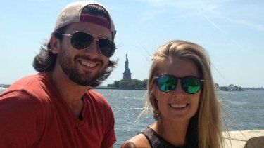 Sam Beattie, left, was killed in the lightning strike, while Michele Segalla suffered head injuries.