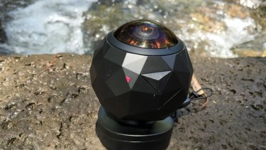 The GoPro-style 360fly action camera lets you look over your shoulder.