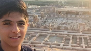 Melbourne High School student Pouya Ghadirian.