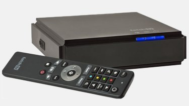 The Fetch TV Mighty personal video recorder, which lets you record both free-to-air broadcasts and streaming Pay TV.