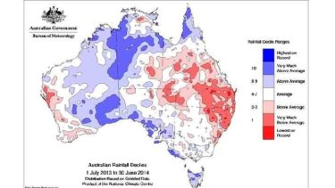 Dry in the east and far west.