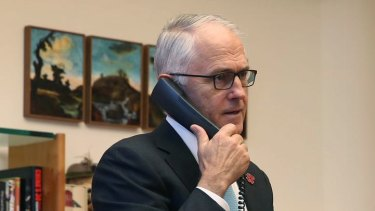 Malcolm Turnbull speaks to Donald Trump after the President's victory in November.