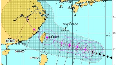 Soudelor is tracking to hit Taiwan on Friday.