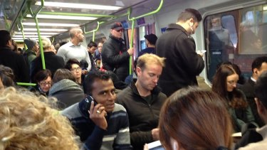 Train passengers stranded by the control centre evacuation on Thursday morning.