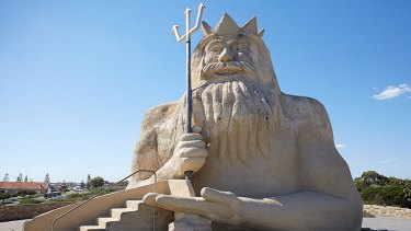 King Neptune has been restored to his former glory after years of vandalism