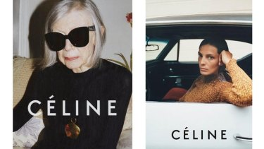 Joan Didion in Celine's new campaign.