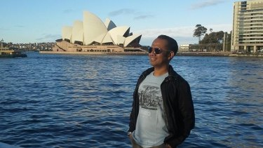 Tommy Abu Alfatih posted this photo of himself in front of the Opera House to his Facebook account in August 2014.