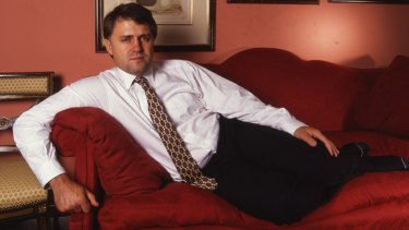 """Malcolm doesn't create neutral feelings..."" Malcolm Turnbull poses in 1991 for Good Weekend"