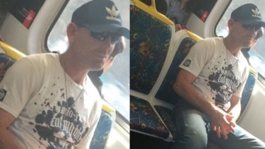 The alleged racial abuser on the train.