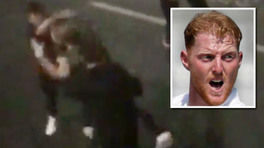 Ben Stokes and the video in which he is alleged to have punched a man to the ground.