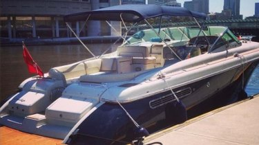 The 40-foot Chris Craft yacht allegedly paid for by Fiat Chrysler.