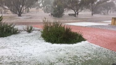The hailstorm in Carnamah.