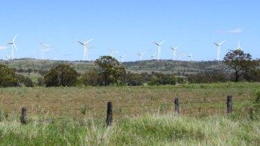 How wind turbine near Bunya Mountains would appear in 2019.