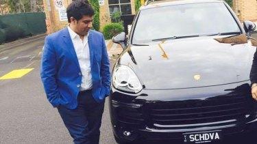 Education salesman Gagandeep Sachdeva and his new Porsche.