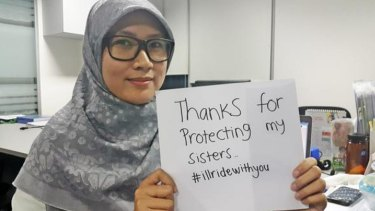 #illridewithyou: online users continue to tweet their support for the local Muslim community.