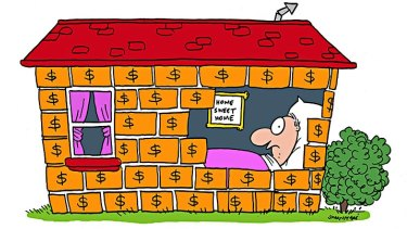 Buying a home is not the only way to achieve financial security. Illustration: John Shakespeare