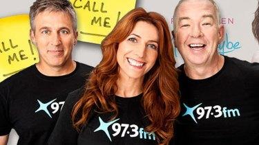 Hosts of 97.3FM's flagship program, Terry Hansen, Robin Bailey and Bob Gallagher.