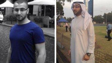 Two faces of terrorist suspect Mohammad Kiad.