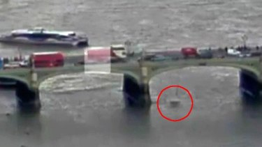 CCTV camera captured the moment Andreea Cristea fell into the Thames.