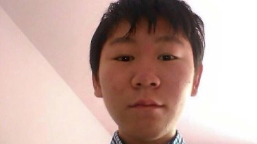 Bao Zhuoxuan, 16, the teenage son of detained human rights lawyer Wang Yu.