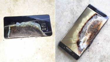 Images that caused nightmares for Samsung engineers, if they were lucky enough to get any sleep at all: the Galaxy Note 7 having caught fire.
