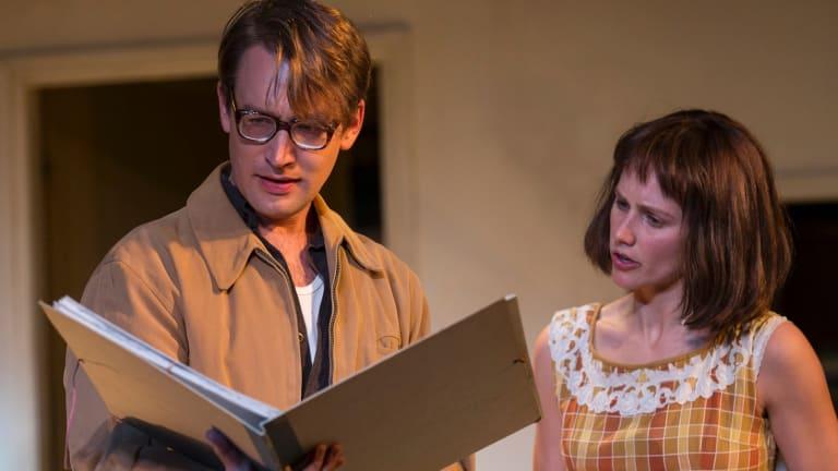 Young Jo (Taylor Ferguson) with Geoffrey (Tom Anson Mesker) in a scene from A Taste of Honey.