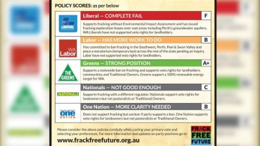 The campaign's election scorecard.