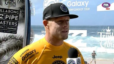 Mick Fanning at the Pipe Masters in Hawaii.