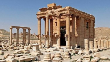 The Temple of Baalshamin at Palmyra has been blown up by Islamic State militants, reports from Syria say.