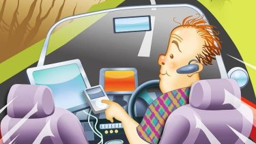 Many young drivers admit being distracted by their mobile devices while driving.