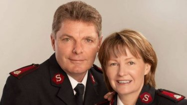 Major Geoff Freind pictured with his wife Lyn.