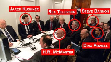 Trump's 'war room' at Mar-a-Lago.