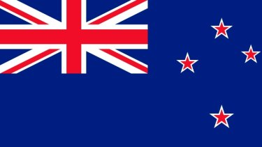 Incumbent: The current New Zealand flag.