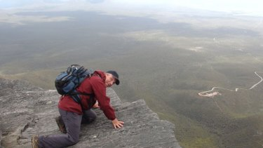 Roger Sparvell looks out at the impressive few atop of Bluff Knoll in the Stirling Range