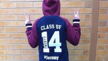 Jeremy's Year 12 hoodie.
