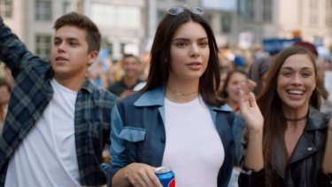 Kendall Jenner leads the resistance in the Pepsi ad.