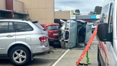 The scene of the crash in Berwick.
