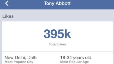 Like me! Mr Abbott's popularity has skyrocketed thanks to an Indian fanbase.