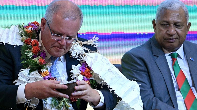 Scott Morrison's Pacific trip undermined at home